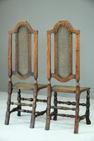 Pair of Walnut & Cane Carolean Chairs (10 of 11)