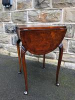 Antique Burr Walnut Drop Flap Side Table (8 of 9)