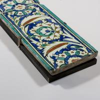 Two Ottoman Iznik Border Tiles c.1600 (3 of 4)