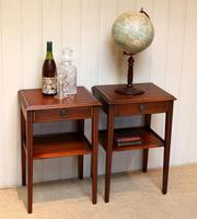 Pair of Edwardian Style Mahogany Tables (6 of 10)
