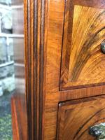 Antique Figured Walnut Small Chest Drawers (10 of 10)