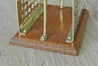 Fine William Tonks & Sons Brass and Oak Letter Rack c.1920 (4 of 5)