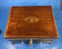 Georgian Mahogany Jewellery Box with Front Drawer (4 of 17)