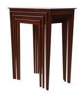 Inlaid Mahogany Nest of 4 Tables (2 of 5)
