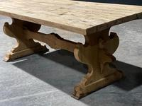 Large Rustic Bleached Oak Farmhouse Refectory Dining Table (12 of 25)