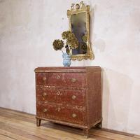 18th Century Gustavian Original Painted Commode - Red (2 of 15)