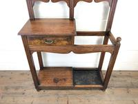 Antique Oak Arts & Crafts Mirrored Hall Stand (3 of 11)