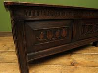 Antique Continental Carved Oak Coffer, Blanket Box, Hall Storage Chest for shoes (15 of 17)