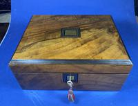 Victorian Walnut Jewellery Box (10 of 12)