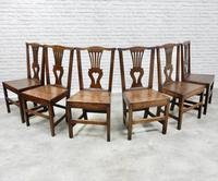 Set of 6 Georgian Welsh Oak Dining Chairs (8 of 8)