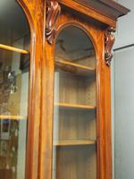 Victorian Mahogany Breakfront Cabinet Bookcase (18 of 19)
