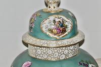Stunning Very Large Late 19th Century Helena Wolfsohn Dresden Vase + Cover (7 of 11)