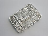 Victorian Silver Castle-top Card Case - St Luke's Church, Liverpool by Nathaniel Mills, Birmingham, 1845 (5 of 12)