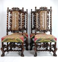 Fine Set of Four Late 17th - Early 18th Century Walnut Chairs (14 of 14)