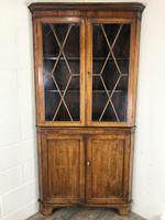 Antique Early 19th Century Oak Standing Corner Cupboard (6 of 7)