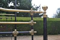 Antique King Size 5ft Half Tester Bedstead by R W Winfield. Bed Restored in your Colour (9 of 19)