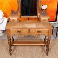 Dressing Table Burr Walnut Mirrored 19th Century (2 of 9)