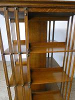 Large 19th Century Oak Revolving Bookcase (2 of 9)