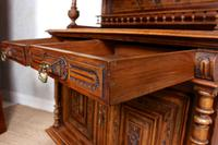 Large German Carved Walnut Bookcase Cabinet 19th Century (3 of 14)