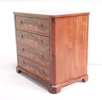 19th Century Continental Flame Mahogany Chest of Drawers (2 of 12)