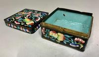 Antique Oriental Cloisonné Enamel Box c.1890 (2 of 8)