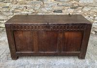 Antique English Oak Coffer