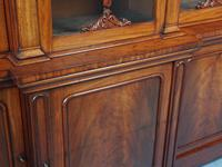 Antique George IV Mahogany Breakfront Library Bookcase (11 of 14)