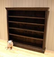 Large Victorian Open Dark Oak Bookcase (10 of 10)