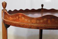 George III Two Tier Inlaid Mahogany Table (6 of 11)