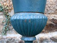 Large Pair of 1950s French Cast Iron Urns (3 of 4)