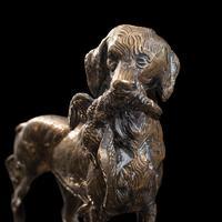 Antique Retriever Statue, English, Brass, Decorative, Dog Ornament, Victorian (11 of 12)