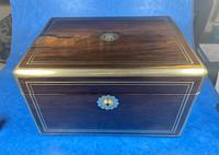 Georgian  Rosewood Brassbound Vanity Box (10 of 34)