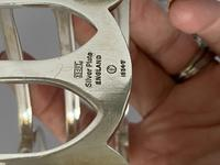 Smart Pair Silver Plated Toast Racks c.1920 (4 of 6)