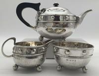 Silversmith A E Jones Silver Tea Set 1918