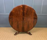 Victorian Round Rosewood Loo Table (6 of 17)