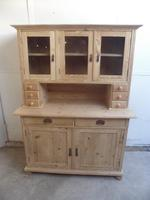 Lovely 3 Door 6 Spice Drawer Antique Pine Kitchen Dresser To Paint/Wax (7 of 9)