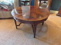 Fine Antique Figured Mahogany  'Sunburst Top' Coffee Table (6 of 6)