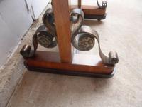 Amazing Original 1930s Art Deco Walnut Cheval Type Freestanding Mirror (6 of 10)