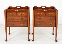 Pair of  Mahogany Queen Anne Style Bedside Cabinets (4 of 12)