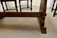 Oak Refectory Table with Set of 4 Chairs (4 of 8)