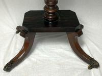 Antique Regency 19th Century Circa 1820 Irish Campaign Side Table With Drawer (4 of 12)