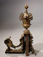Late 19th Century Pair of French Bronze Chenet (3 of 4)