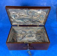 George III Solid Mahogany Box With Wonderful Inlaid Panels (12 of 18)
