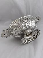 Victorian Antique Silver Fruit Bowl 1861 London William Stocker Sterling Bowl (3 of 11)