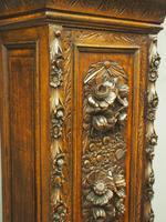 Flemish Carved Oak Grandfather Clock (8 of 13)