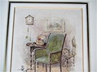 Fine antique watercolour, manner of George Goodwin Kilburne, c1900, framed (7 of 7)