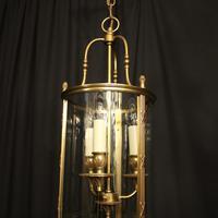 French Gilded Bronze Triple Light Convex Lantern (3 of 10)