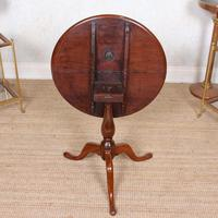 Tripod Lamp Table Mahogany 19th Century (8 of 8)