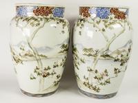 Large Mirror Pair of Japanese Samurai Kutani Vases (6 of 7)