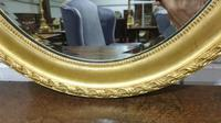 Edwardian Oval Gilt Mirror with Bevelled Glass (3 of 3)